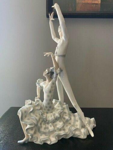 "RETIRED LLADRO ""FLAMENCO DANCERS"" #4519 Mint Condition 19"" TALL"