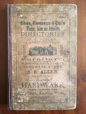 Rare 1879 Winston Salem Greensboro North Carolina Business Directory Tobacco Ads