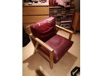 Vintage Scandinavian style armchair