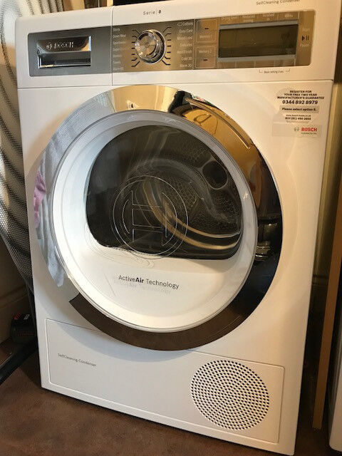 Bosch WTY86791GB Heat Pump Tumble Dryer - White
