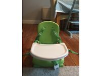 Mothercare travel booster seat (green)