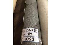 Grey Diamond Tile Effect Vinyl Remnant (5.10 x 3.15m) for £80 - REF: 053