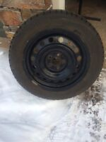 Gislaved Nord Frost 5 studded winter tires and steel rims