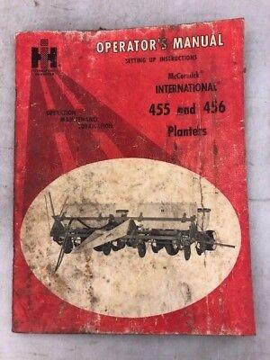 Operators Manual Mccormick International 455 456 Planters Setting Up Instruc