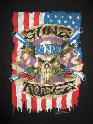 GUNS N' ROSES (GNR) (MED) T-Shirt SLASH AXEL ROSE Skull
