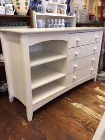 Julian Bowen *CHEST OF DRAWERS* White With Storage Shelves Bedroom Unit