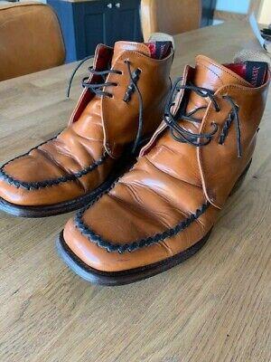 Mens Jeffery West Croaker tan boots - Size 8