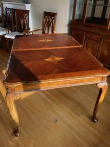 Dining Table Set with Cabinet Seats 8