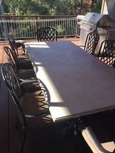 Gorgeous solid marble and iron dining table! North Turramurra Ku-ring-gai Area Preview
