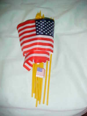 "12 SMALL 4""X6""inch.UNITED STATES FLAGS FLAGS ON POLES"