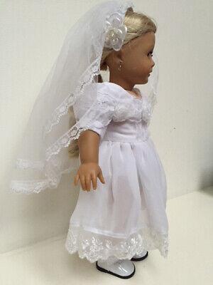 Beautiful First Communion Dress & Veil made for 18