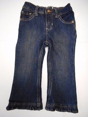 Blue Jeans Clothes - Girls blue jeans Baby Girls clothes Girls pants Ruffled hem Blue Jeans 9-12 mos