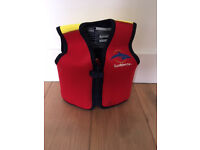 Original Konfidence Children's Swim Jacket, 2-3 Years, up to 20 Kg, Colour: Red Front, Yellow Back