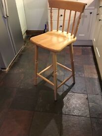 PINE Kitchen STOOL - in excellent condition - Solid Pine