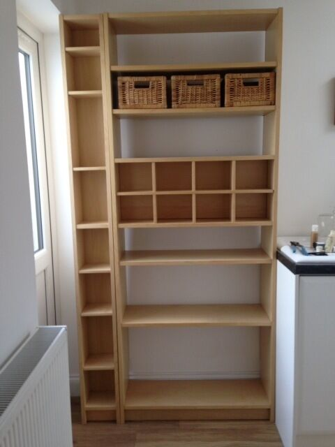 Ikea billy bookcase in birch effect and separate cd dvd - Ikea porta cd billy ...