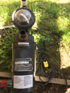 ABOVE GROUND POOL PUMP & FILTER