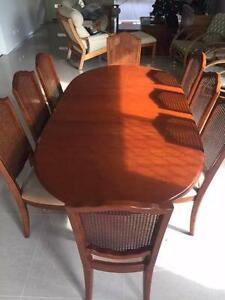 Cedar Dining Setting (table-extendable, 8 chairs and buffet) Oxley Brisbane South West Preview