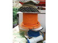 3 core artic flex blue, 3 core flex orange and coax reel