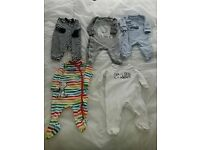 Boys 0 - 3 months Baby Grows