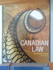 Candian Law: An Introduction 5th Edition - Neil Boyd