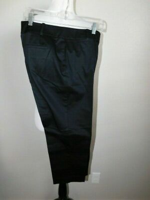 Ann Taylor Size 6 Curvy STRETCH Black Cropped Career Pants