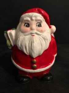 Vintage Christmas Jolly Santa Planter By Inarco