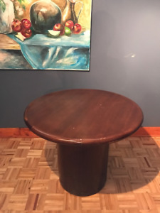 Small round wood table