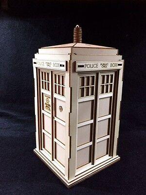 Dr Who's TARDIS Laser Cut Wooden 3D Model/Puzzle Kit