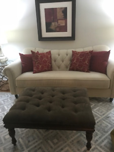 Bombay Company Fabric Ottoman - Excellent Condition