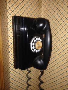 Antique Northern Telecom Rotary Dial Wall PHone