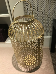 Gold Wedding card holder/lantern