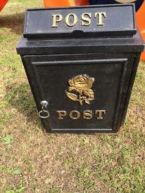 """Metal """"POST"""" Box with Lockable Door"""