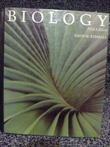 Biology fifth edition hardcover textbook by Kimball