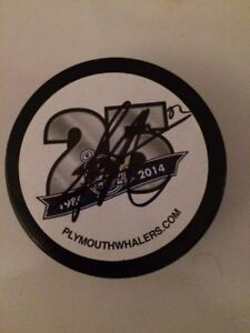 NHL's Sonny Milano, Autographed Puck