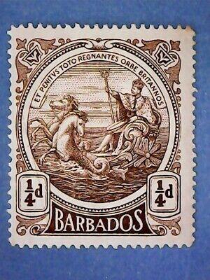 Barbados. KGV 1916 ¼d Deep Brown. SG181. Wmk Mult Crown CA. P14. MH.