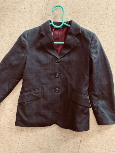 Elite COMPETITION Hunt COAT *Youth 10 S  *Gray Windowpane New
