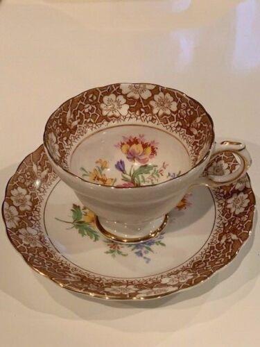 Vintage Rosina Made In England Bone China Tea Cup & Saucer Set