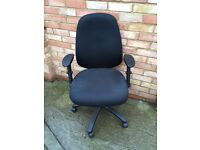Black office chair, fully adjustable