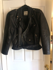 Vintage 90's Classic Biker Jacket & Leather jeans