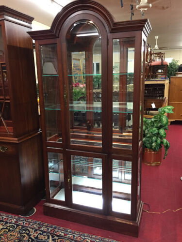 Pennsylvania House Cherry Lighted Curio Cabinet - Delivery Available