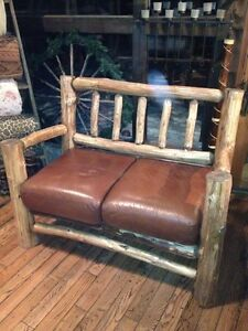 Log Style Sofa; Love Seat