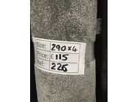 Luxury soft touch grey carpet remnant - 2.90x4 - £115 - Ref 226
