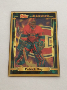 Patrick Roy - 1995 Topps Finest Bronze Hockey Card