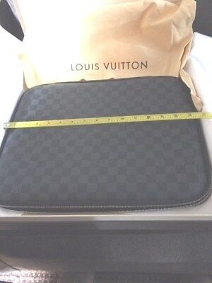 "Louis Vuitton Damier Graphite 15 Laptop Sleeve Case*NEW* 16""X12.5*WITH BAG & BOX"