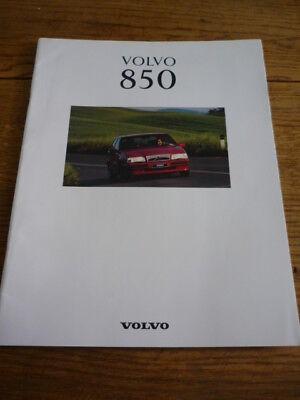 VOLVO 850 SE AND 850 GLT 2.5 1993 SALES BROCHURE