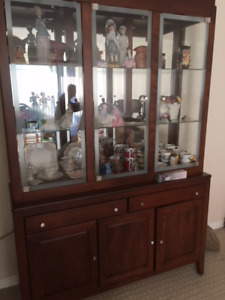 For Sale-Hutch, Couch, Antique mini rockers, all from clean home