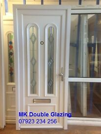 BRAND NEW White Upvc Double Glaze Front Door for Sale (SOLD - Other doors available)