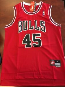 Micheal JORDAN - NUMBER 45 - Bulls Basketball Jersey - NEW MED
