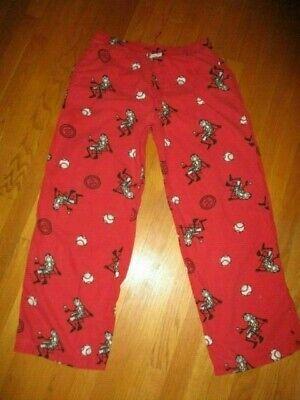 Men's Life is Good Red Baseball Cotton Pajama Lounge Pants Size Small ()