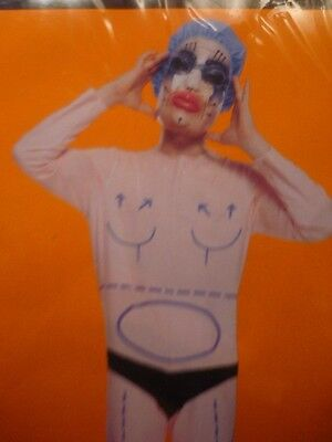 Nu PLASTIC SURGEON Bodysuit Costume Med Medical School Party Adult Mens XL 42-46